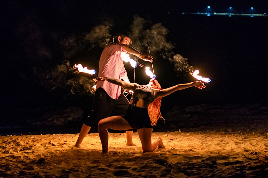 Fire Eating Couple - Performers US Virgin Islands