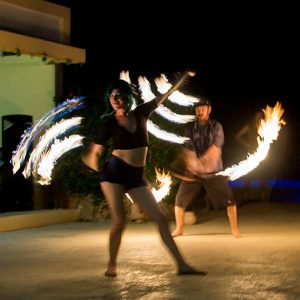 Fire Dancers Performing
